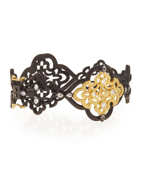 Old World Scroll Bracelet with Diamonds