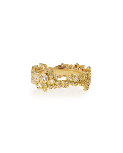 Sueño 18k Cluster Diamond Stack Ring