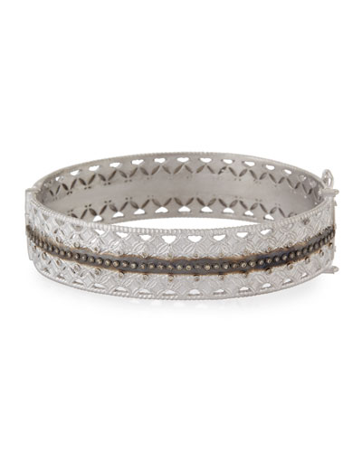 Double Cravelli Huggie Bracelet with Diamonds