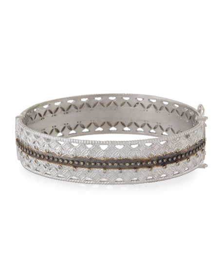 Armenta Double Cravelli Huggie Bracelet with Diamonds