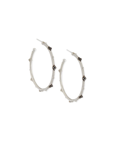 New World Cravelli Diamond Hoop Earrings