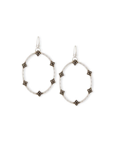 New World Open Oval Diamond Earrings