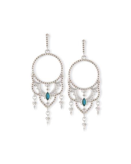Armenta New World Scalloped Diamond Hoop Earrings