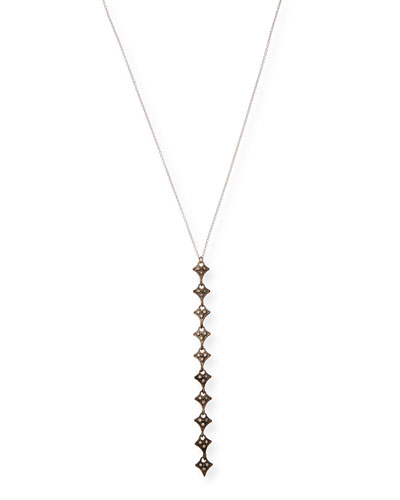 New World Champagne Diamond Drop Necklace