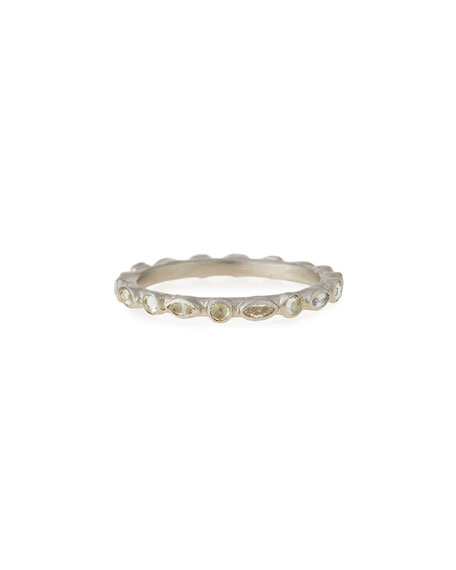 Armenta New World White Sapphire Stack Ring