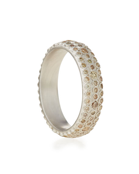 New World Champagne Diamond Eternity Stack Ring