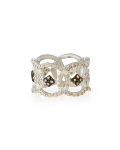 New World Open Circle Diamond Band Ring