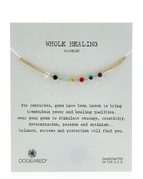Dogeared Whole Healing Gem Bracelet