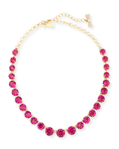 graduated crystal statement necklace