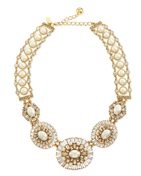 kate spade new york pearly bead statement necklace