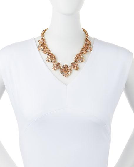 make me blush crystal statement necklace