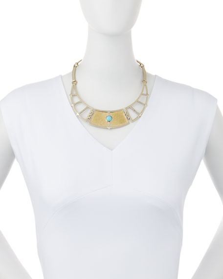 Pamela Love Sue 241 O Frida Breastplate Necklace With Turquoise