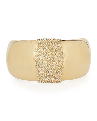 Crystal Center Cuff Bracelet