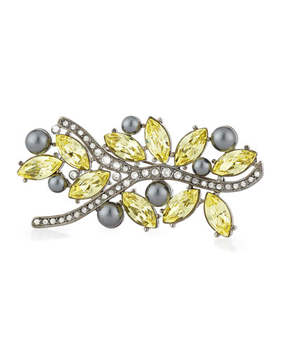 Multi Tonal Crystal Brooch