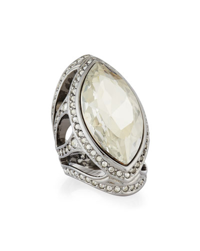 Marquise Crystal Cocktail Ring