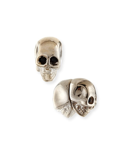 Brass Skull Stud Earrings