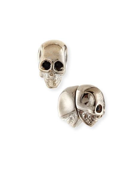 Givenchy Brass Skull Stud Earrings
