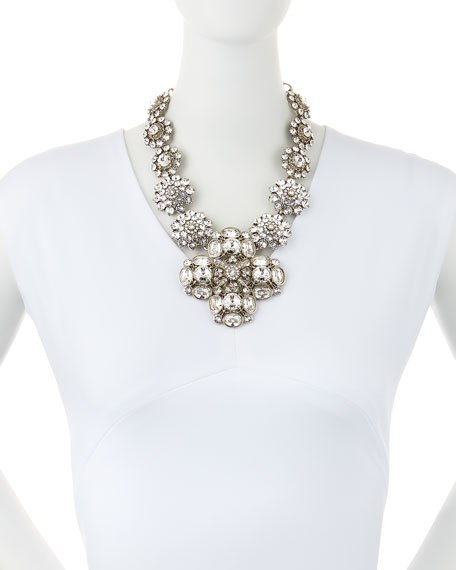 Image 2 of 2: Crystal Statement Necklace