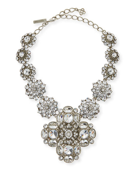 Image 1 of 2: Crystal Statement Necklace