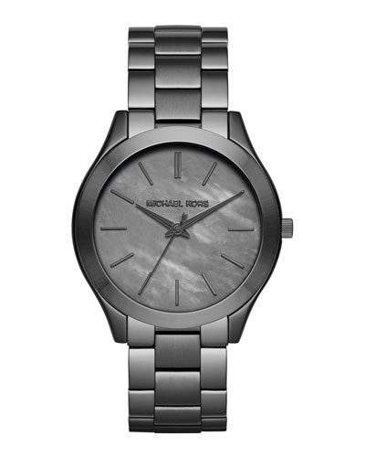 42mm Slim Runway Gunmetal Watch