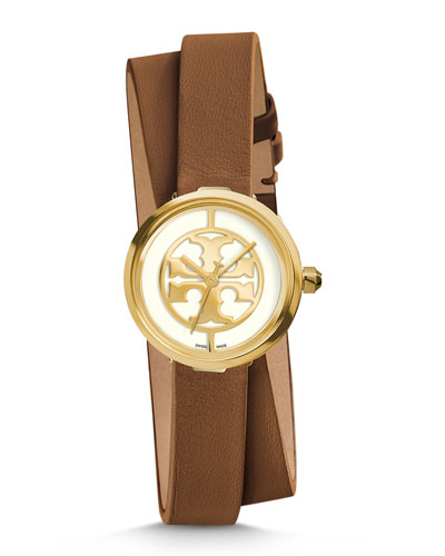 Reva Double-Wrap Leather Watch, 28mm