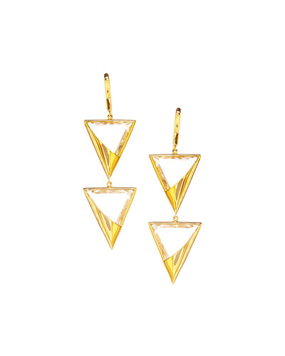 14k Elite Jetset Crystal Duo Earrings