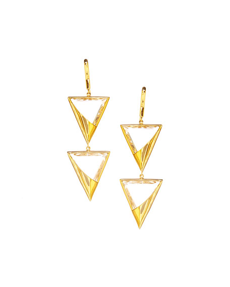 14k Elite Jetset Crystal Duo Earrings