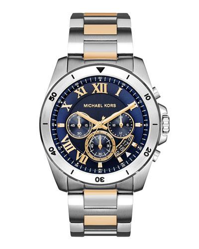Brecken 44mm Stainless Steel Watch