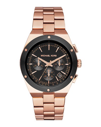 41.5mm Reagan Rose Golden Stainless Steel Watch