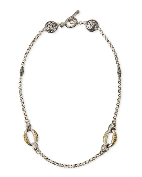 Daphne Silver & 18k Gold Chain Necklace