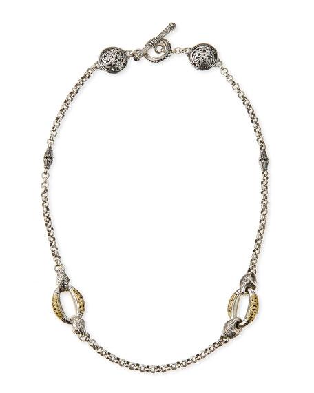 Konstantino Daphne Silver & 18k Gold Chain Necklace