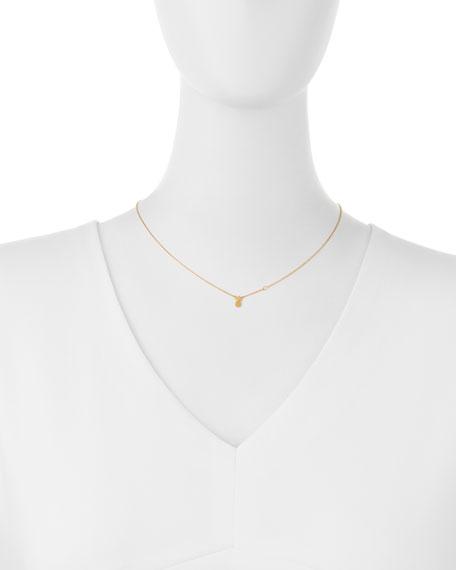 Pineapple Bezel-Diamond Pendant Necklace