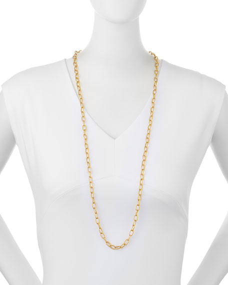 "Small Oval-Link Chain Necklace, 36""L"