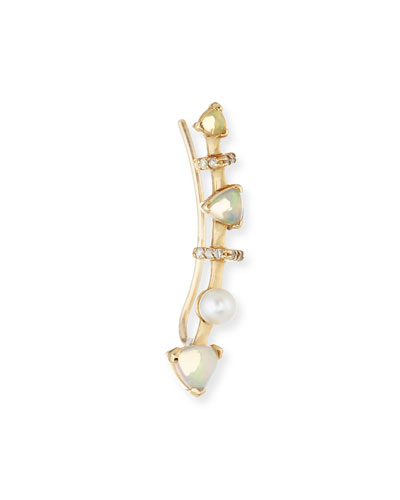 Marta Opal Single Climber Earring (Left)