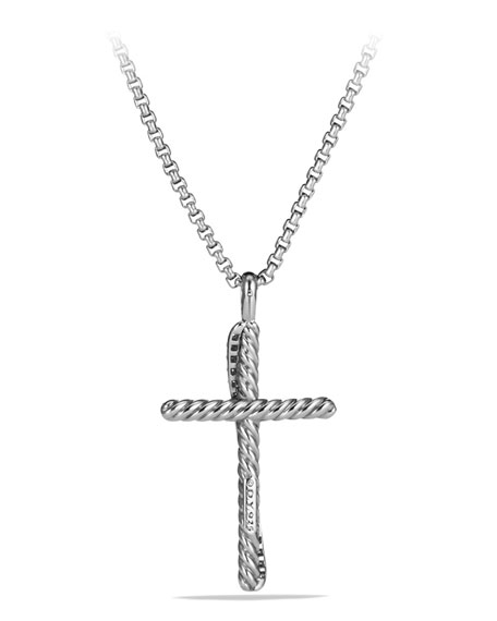 DAVID YURMAN Cross Crossover Diamond Pendant Necklace