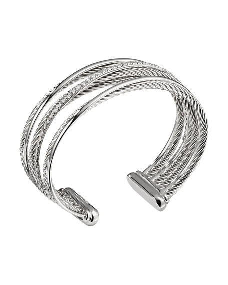 Crossover Four-Row Cuff Bracelet