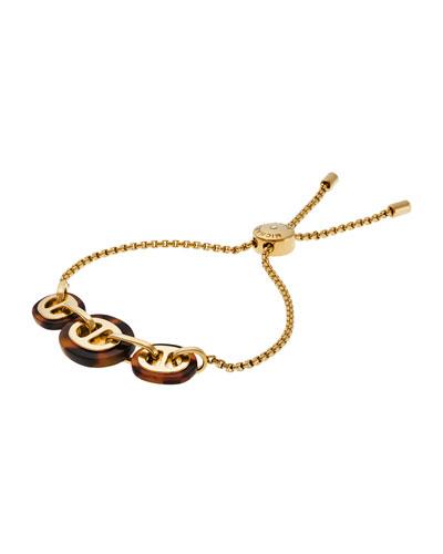 Maritime 3-Link Slider Bracelet, Golden