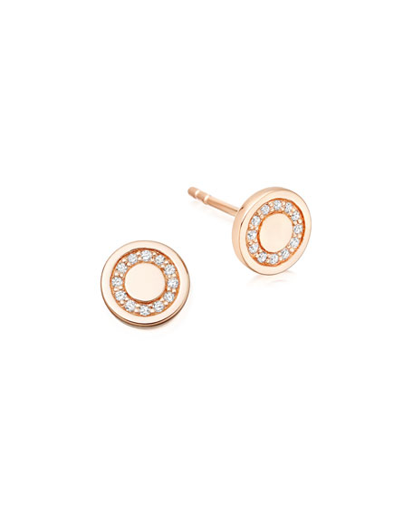 Astley Clarke Cosmos 14K Rose-Gold Pavé Diamond Mini
