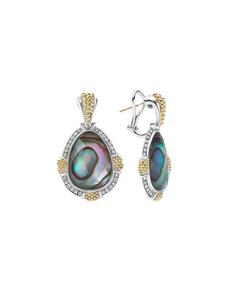 LAGOS 18K Gala Caviar Abalone Drop Earrings