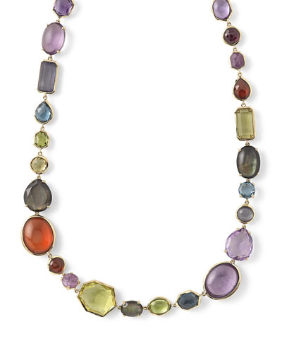 18k Rock Candy Sofia Fall Rainbow Necklace, 16.5