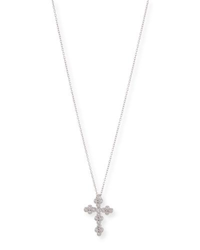 Provence Tiny Diamond Cross Pendant Necklace
