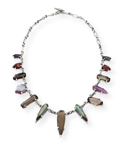 Verona Silver Triplet Collar Necklace