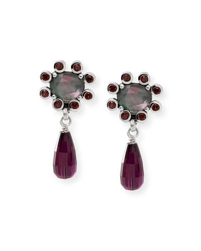 Verona Garnet Briolette Drop Earrings
