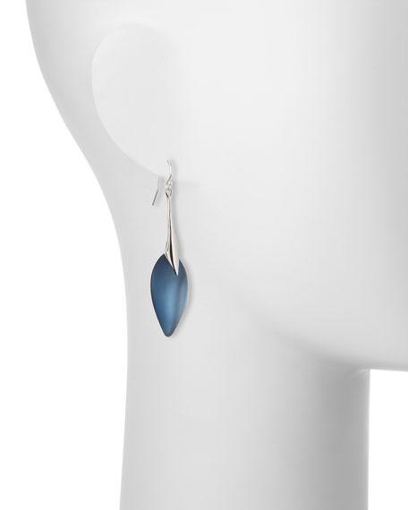 Elongated Lucite Teardrop Earrings, Ocean