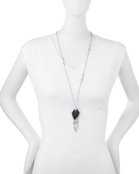 Glacial Crystal Cascading Fringe Pendant Necklace