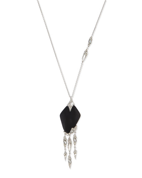 Alexis Bittar Glacial Crystal Cascading Fringe Pendant Necklace