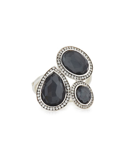 Stella Hematite & Diamond Cocktail Ring