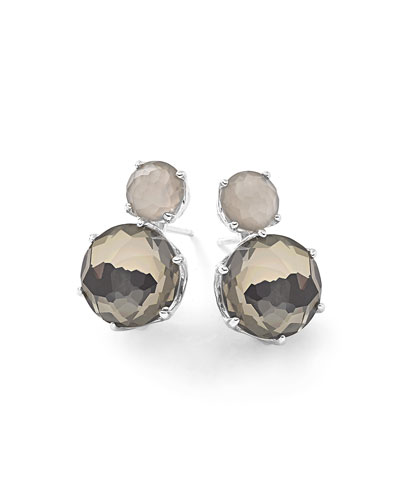 Rock Candy® Two-Stone Earrings in Quartz/Pyrite