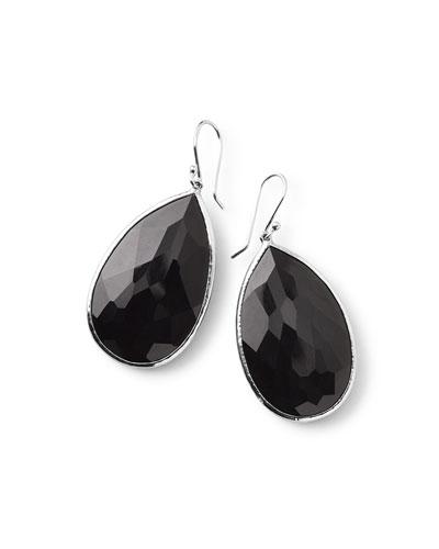 925 Rock Candy Large Pear Onyx Earrings