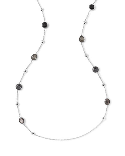 Rock Candy® Black Tie Station Necklace, 42